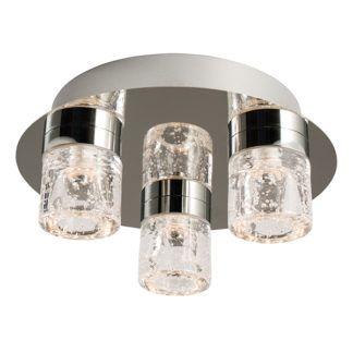Designerska lampa sufitowa Imperial - klosze z efektem bąbelków, srebrna,IP44
