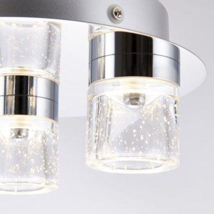 srebrna lampa sufitowa led