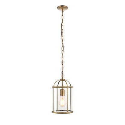 szklana lampa wisząca w kształcie klatki na ptaki