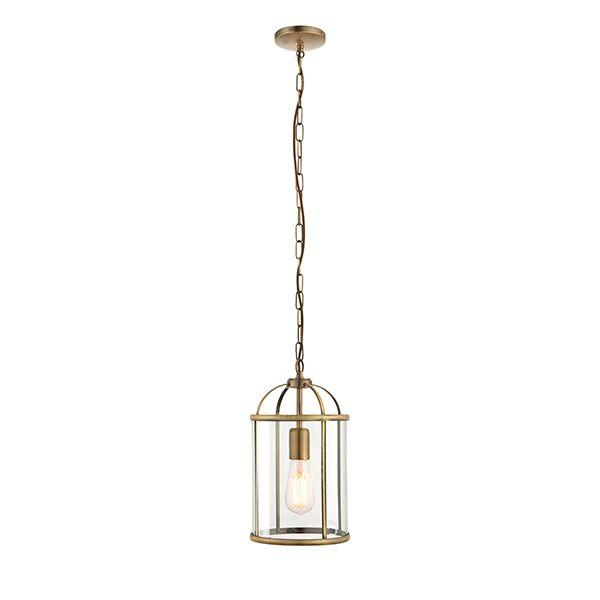 klasyczna lampa wisząca klatka, latarnia, złota