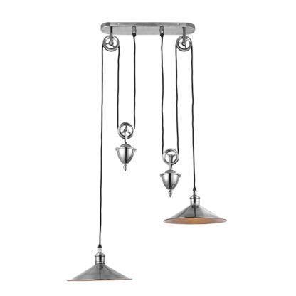 podwójna lampa wisząca nad stół
