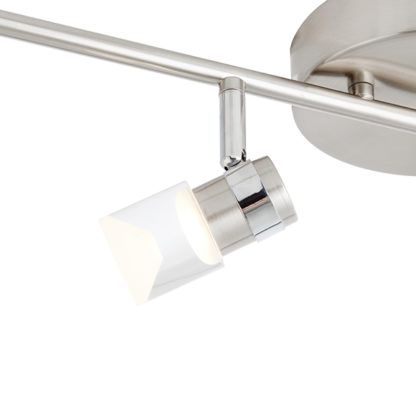 Nowoczesna lampa sufitowa Saturn - srebrna, bezbarwne klosze, LED