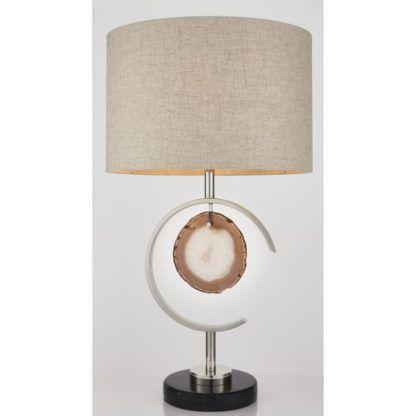 elegancka lampa stołowa z agatem