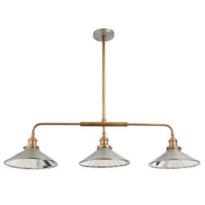 potrójna lampa wisząca nad stół, bilard