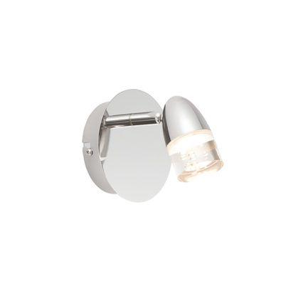 srebrny kinkiet LED