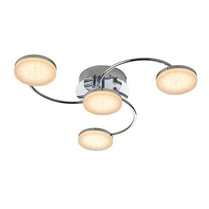 nowoczesna lampa sufitowa z okrągłymi kloszami