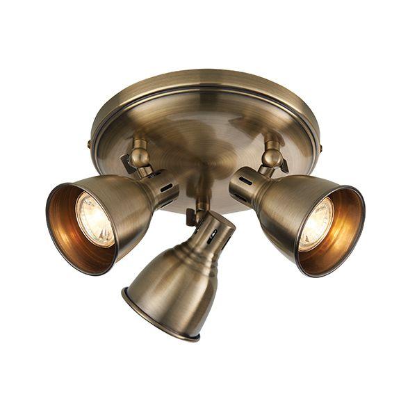 Okrągła lampa sufitowa Westbury - 3 klosze z regulacją