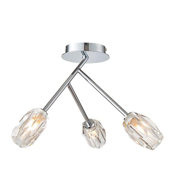 srebrna lampa sufitowa glamour nowoczesna