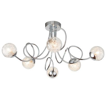 Nowoczesna lampa sufitowa Auria - srebrna, szklane kule