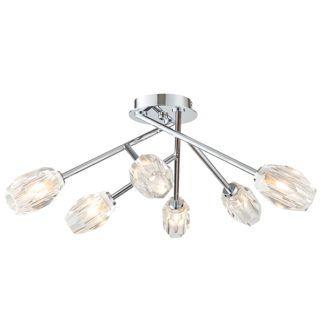 Elegancka lampa sufitowa Ilaria - nowoczesna, szklane klosze, srebrna
