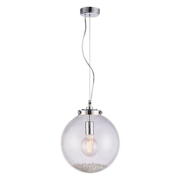 lampa wisząca szklana z kryształami