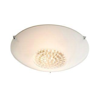 Elegancka lampa sufitowa Nya - szklany, mleczny klosz