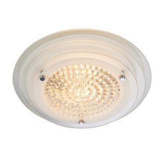 Elegancki plafon Ava - okrągły, szklany klosz