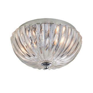 Dekoracyjna lampa sufitowa Chalbury - srebrna, szklana