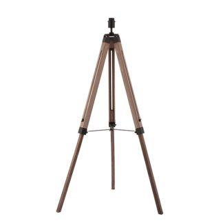 Podstawa do lampy podłogowej Bennett - drewniany trójnóg