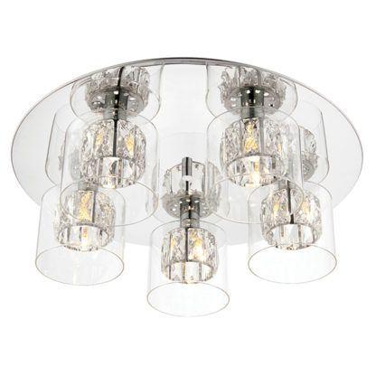 szklana lampa sufitowa glamour
