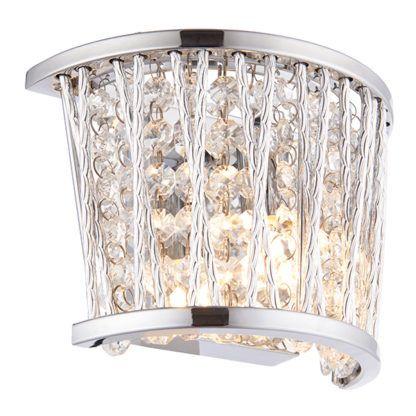 srebrny kinkiet glamour z kryształami