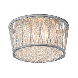 Oryginalny plafon Sophia - kryształowe łańcuszki w srebrnej obudowie