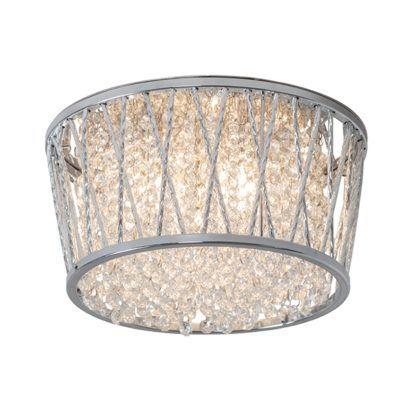 kryształowy plafon w srebrnej oprawie