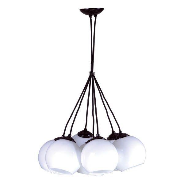 lampa wisząca białe klosze czarne zawieszenie