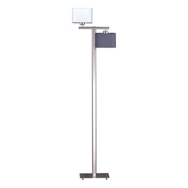 podwójna nowoczesna lampa podłogowa elegancka satyna
