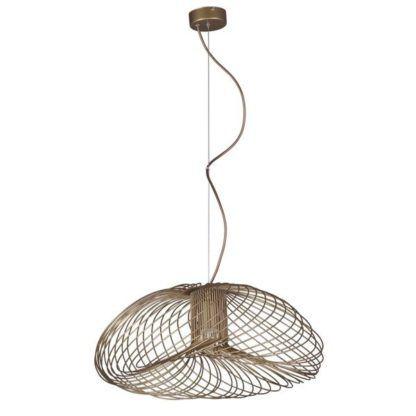 ażurowa lampa wisząca w stylu skandynawskim