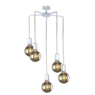 Minimalistyczna lampa wisząca Gippy - białe zawieszenie