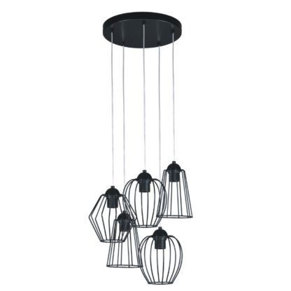 druciana lampa wisząca skandynawska różne klosze