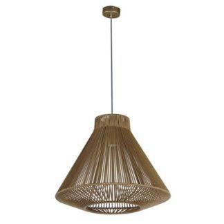 Efektowna lampa wisząca Gaudi - ażurowy klosz ze sznura