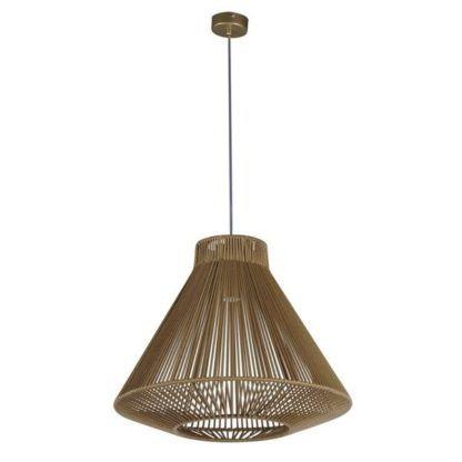 designerka lampa wisząca ze sznura, nowoczesna