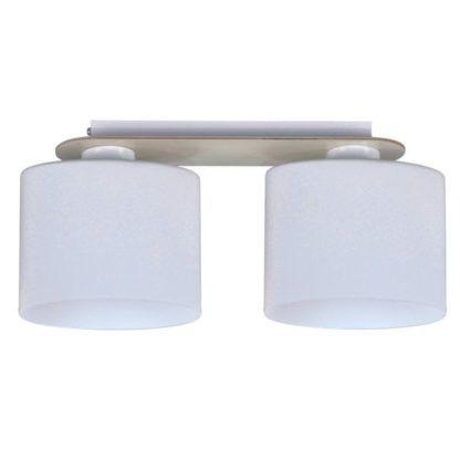 nowoczesna lampa sufitowa z dwoma kloszami