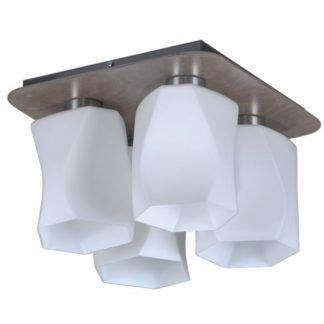 Oryginalna lampa sufitowa Paco - 4 szklane klosze, białe