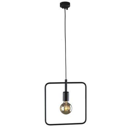 kwadratowa, nowoczesna lampa wisząca geometria