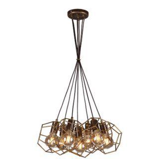 Oryginalna lampa wisząca Alicante - metalowe, geometryczne klosze
