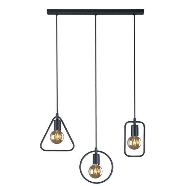 lampa wisząca, czarna, geometryczna