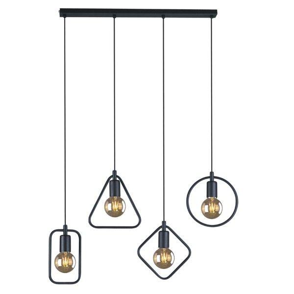 aranżacja salon lampy industrialne