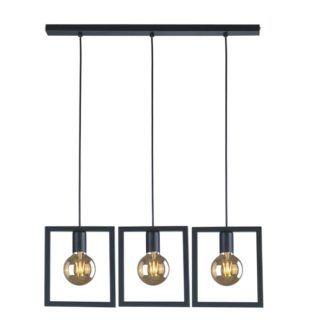 Nowoczesna lampa wisząca Lavaya - czarna, designerska