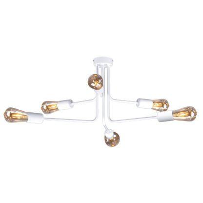 biała lampa sufitowa pająk nowoczesny design
