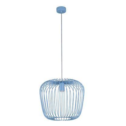 druciana lampa wisząca błękit
