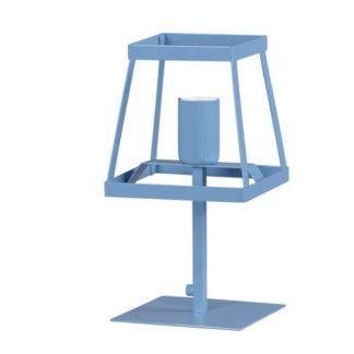Metalowa lampa stołowa Tedy - niebieska