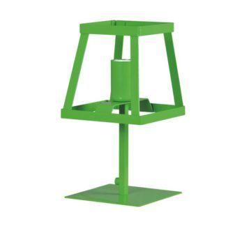 Zielona lampa stołowa Tedy - metalowa, ażurowa