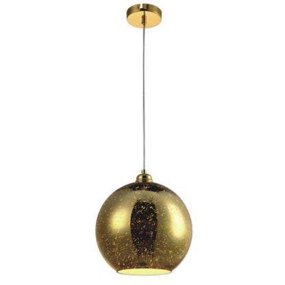 nowoczesna lampa wisząca glamour, złota