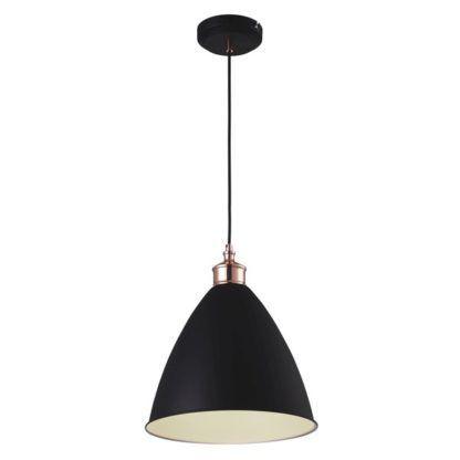 czarna lampa wisząca retro elegancka
