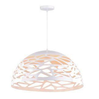 Ażurowa lampa wisząca Kiti - biały klosz, nowoczesna