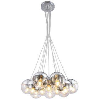 Efektowna lampa wisząca Layla - szklane kule, nowoczesna