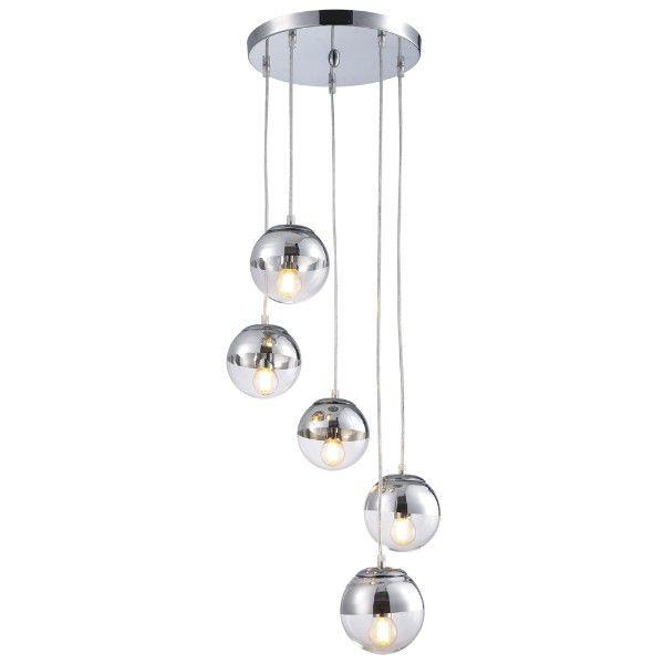 lampa wisząca nad stół, szklane klosze