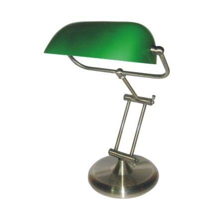 biurkowa lampa stołowa zielony klosz