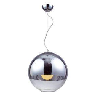 Lampa wisząca Evia - szklany klosz otwarty na dole, nowoczesna