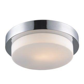 Duża lampa sufitowa Sade - mleczny klosz, chrom, IP44