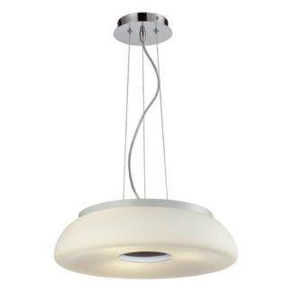 Nowoczesna lampa wisząca Sines - okrągły klosz z mlecznego szkła